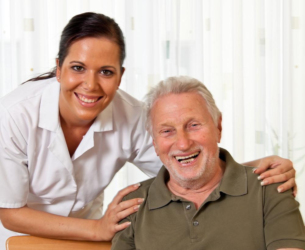 Caregiver nurse in elderly care
