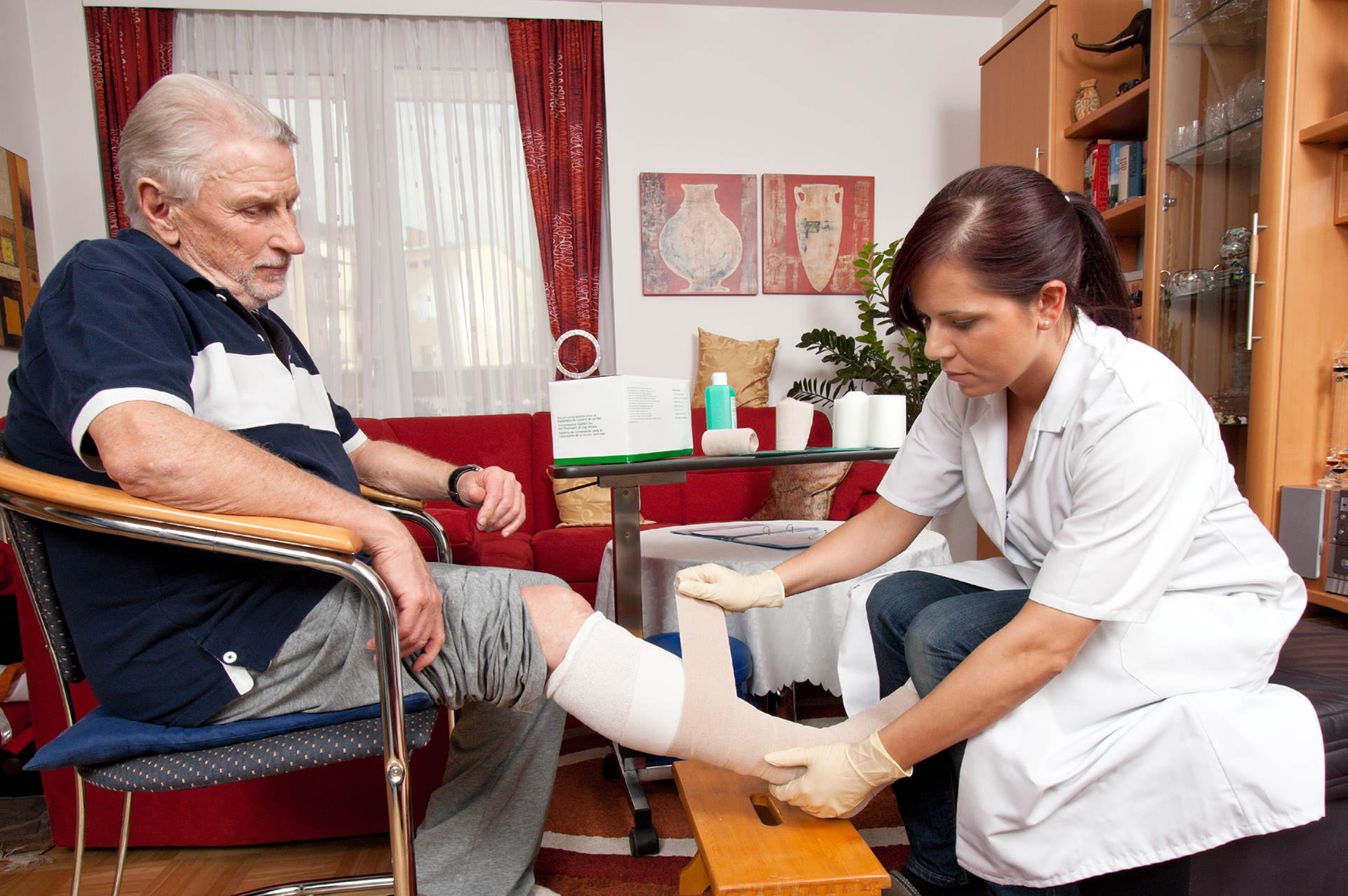 Wound care by caregiver nurses